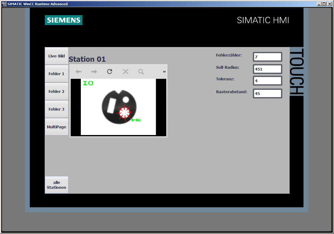 SIEMENS Comfort Panel: Live Image - display the image in a browser plugin